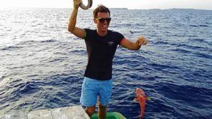 モルディブ魚釣り